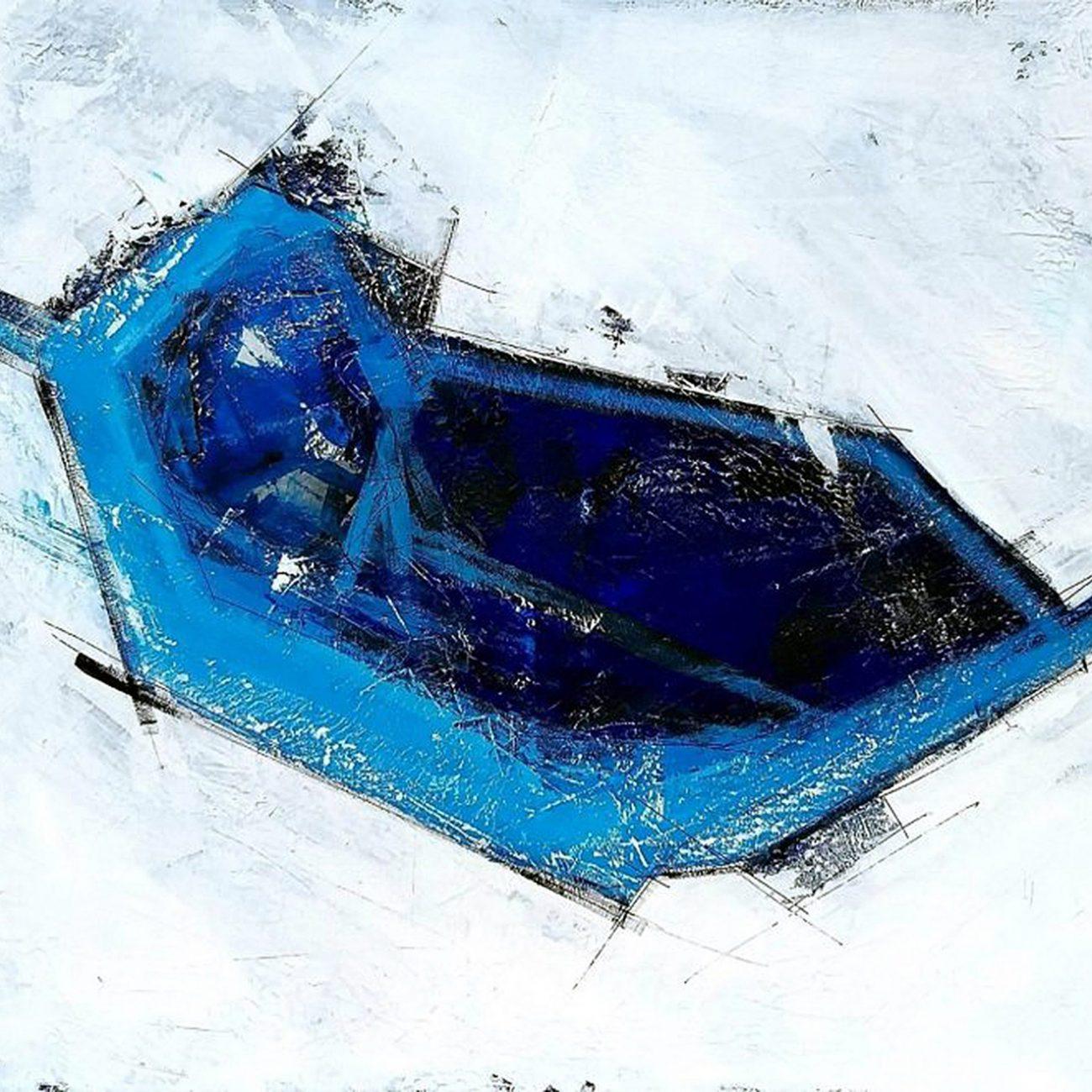 Mavi Soyut Teknik:Tuval Üzeri Akrilik Ölçü:100x120 cm
