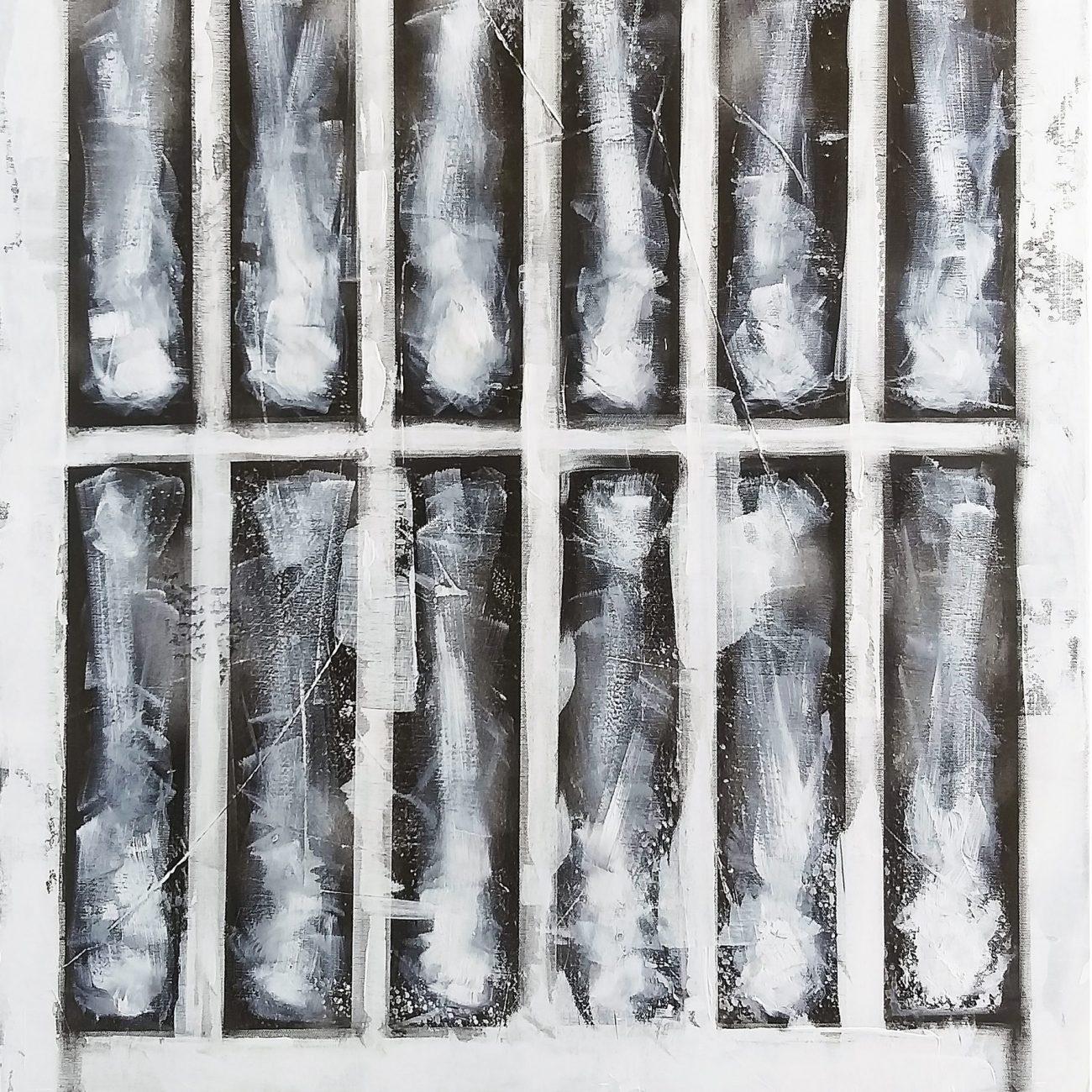 Demans No:4 Teknik:Tuval Üzeri Karışık Teknik(Akrilik ve Yağlı Boya)  Ölçü:100x70 cm
