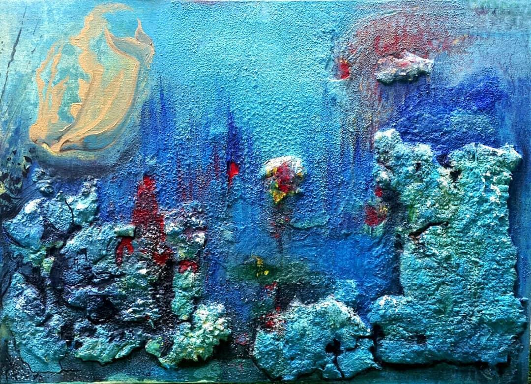 Teknik : Tuval Üzeri Akrilik Ölçü : 50x70 cm