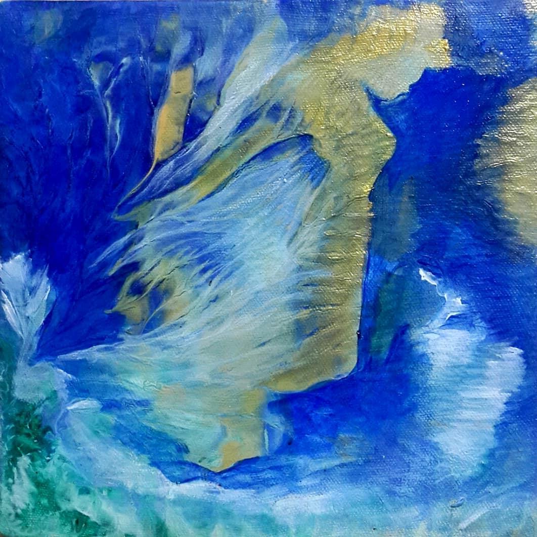 Suyun Sihri  Teknik:Tuval Üzeri Akrilik Ölçü:15x15 cm