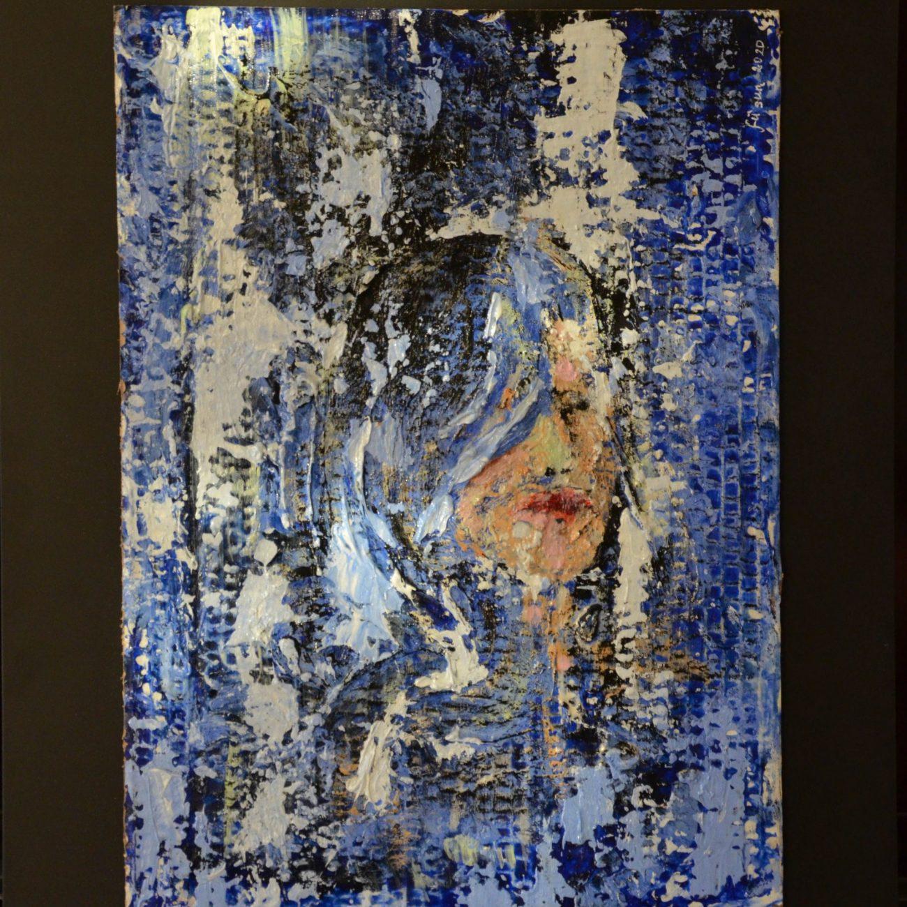Boğulan Kadın  Teknik:Mukavva Üzeri Karışık Teknik Ölçü:40x30 cm