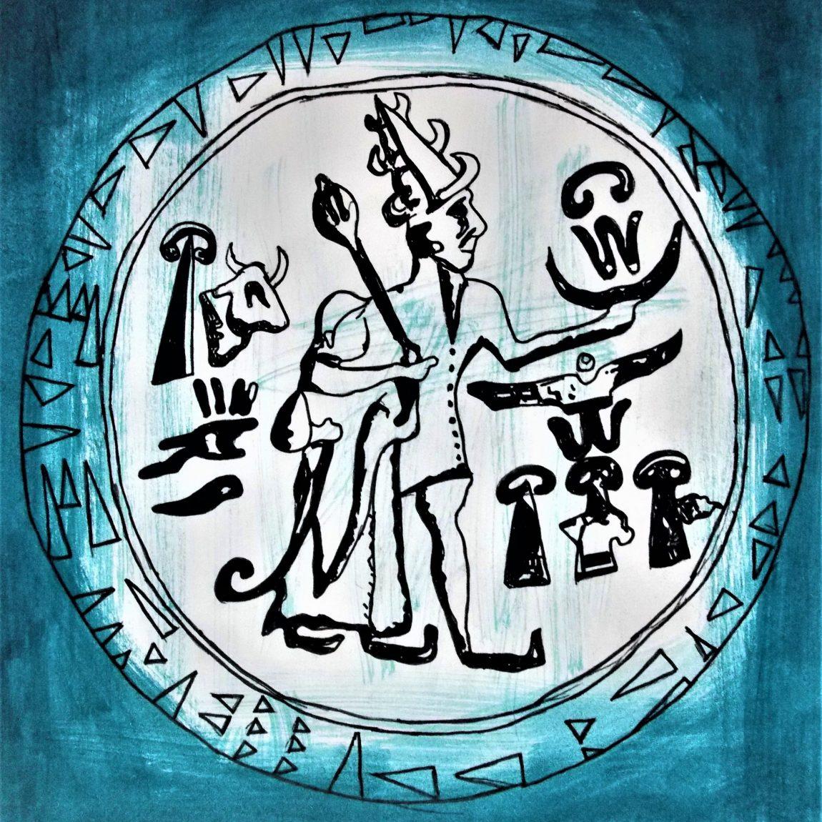 Hitit Kralı Muvatalli'nin Mühürü Teknik : Karışık Teknik Ölçü: 24 x 34.5 cm Fiyatı:750 TL