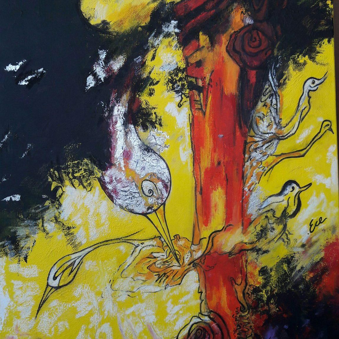Elif Ece Erdiker Teknik: Karışık Teknik Ölçü: 70x100 cm