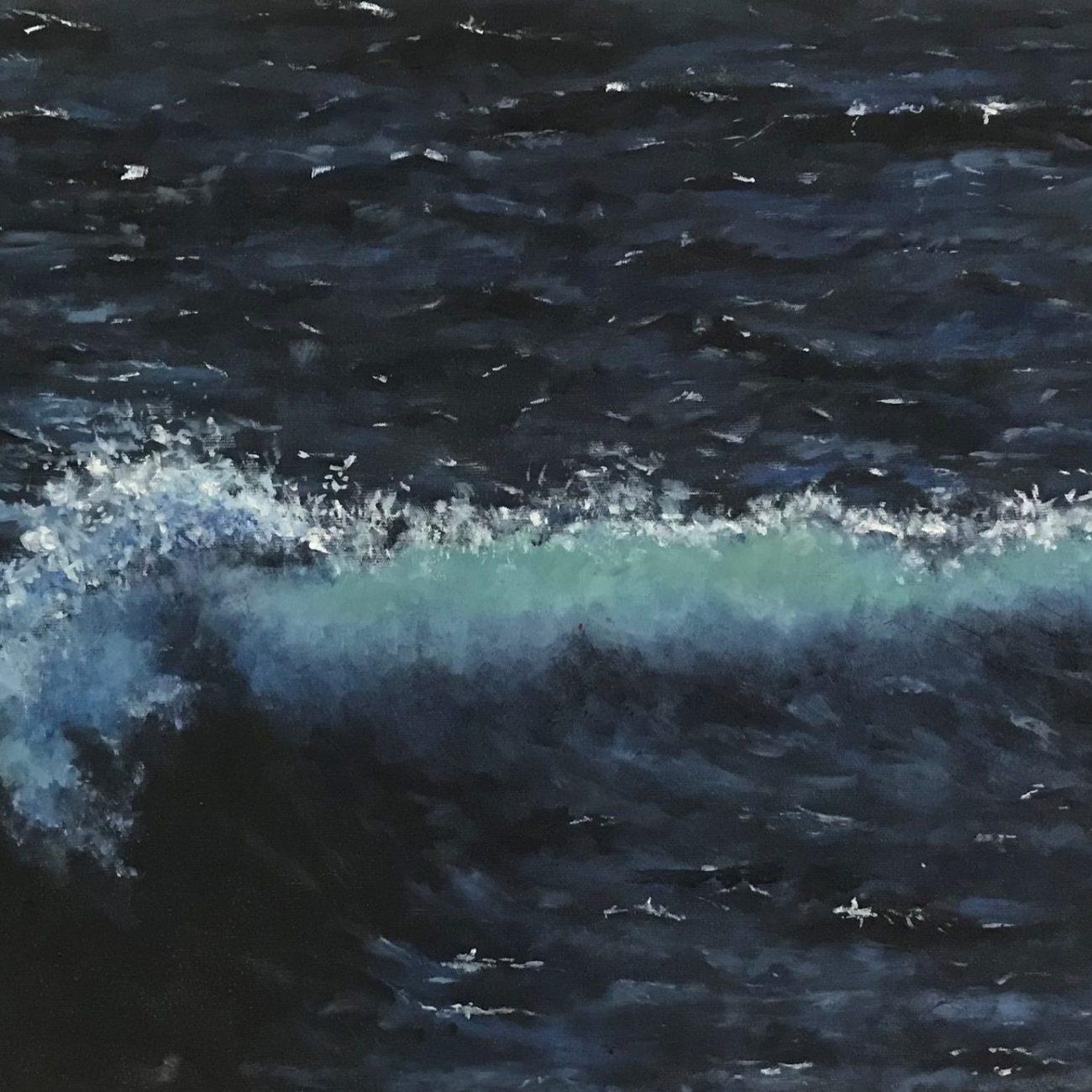 Mavi Dalgalar 1 Teknik : Yağlı Boya  Ölçü: 48 x 80 cm
