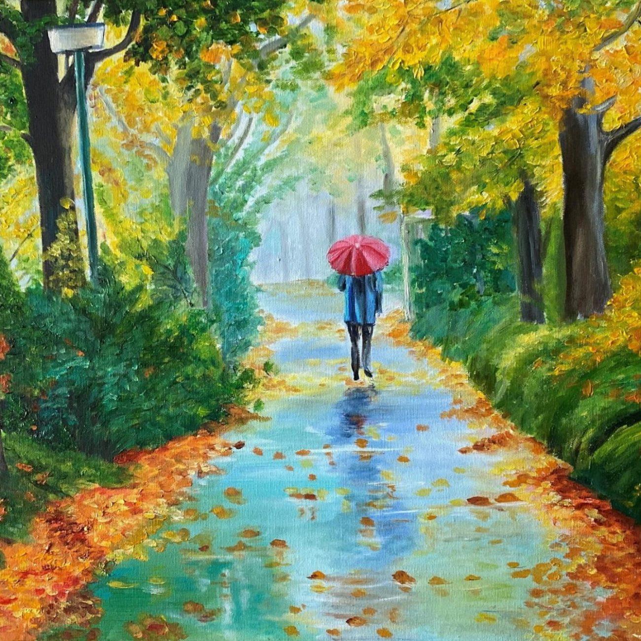 Orman Ve Yağmur  Teknik : Yağlı Boya   Ölçü :60 x 45 cm  Fiyat : 1000 TL