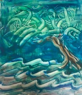 Teknik : Kağıt Üzeri Sulu Boya  Ölçü : 23 x 27 cm  Fiyat : 630 TL