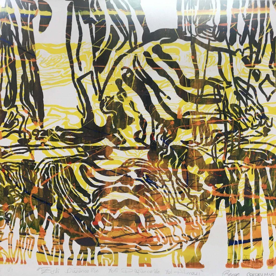 Sanatçı:Benan Çokokumuş  Teknik : Özgün Baskı Ölçü: 71 x 90 cm  Fiyat : 7.100 TL