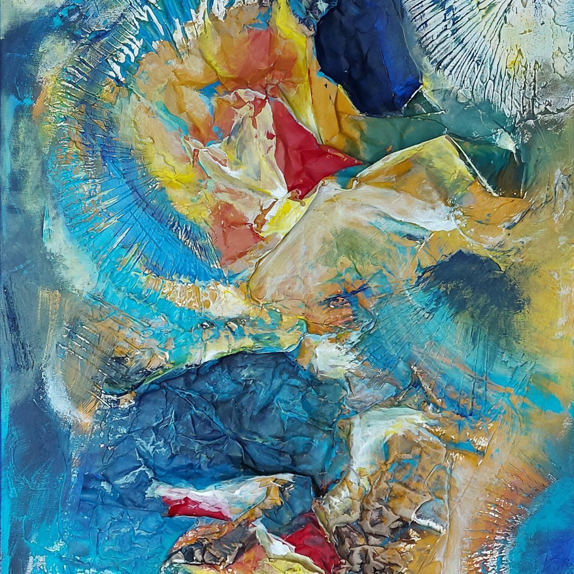 ALEV DUMLUPINAR - Eser Adi: Spirit of ocean Teknik: Tuval Üzeri Akrilik Ölçü: 70 x 90 cm  Fiyat : 2.065 TL