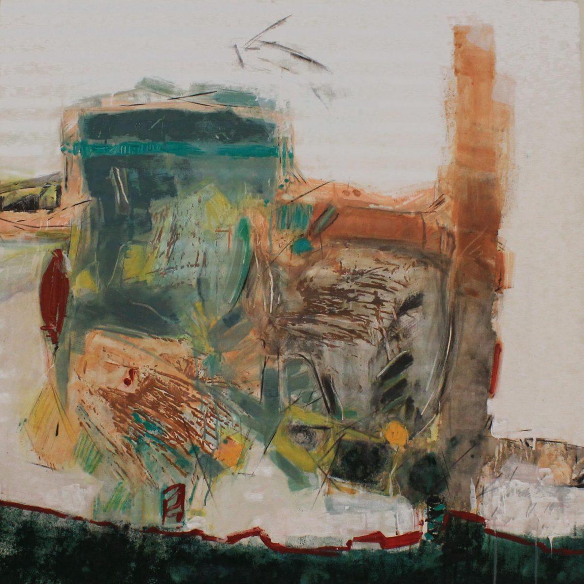 Eser Adı: One the surface - Teknik: Karışık Teknik Ölçü: 60 x 90 cm - Koleksiyon-