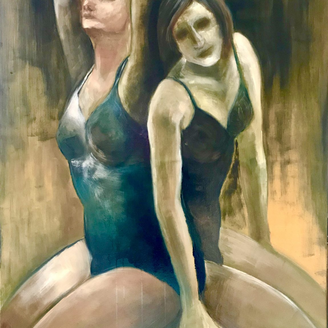 PINAR TÜRE GÜRSOY- Eser Adı: Sisterly Teknik: Tuval Üzeri Yağlı Boya  Ölçü: 80 x 100 cm  Fiyat : 8.260 TL