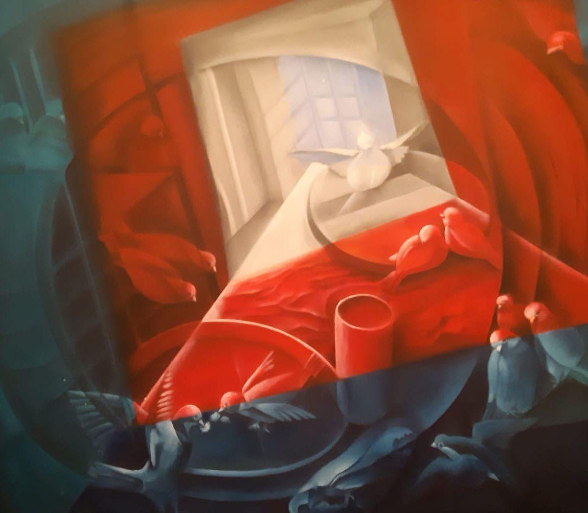 ZEYNEP NURAY ATASAGUN - Eser Adı : Özgürce Beraber Yaşam  Teknik: Tuval Üzeri Yağlı Boya Ölçü: 89 x 116 Fiyat : 7.710 TL