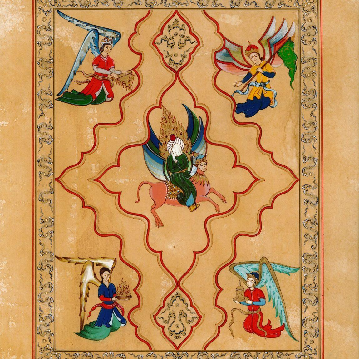 Seçil Sever Demir - Eser Adı :Hz Muhammed'in Mirac Yolculuğu Teknik:Özgün Minyatür Tasarım Ölçü: 24x32 cm Fiyat : 3.780 TL