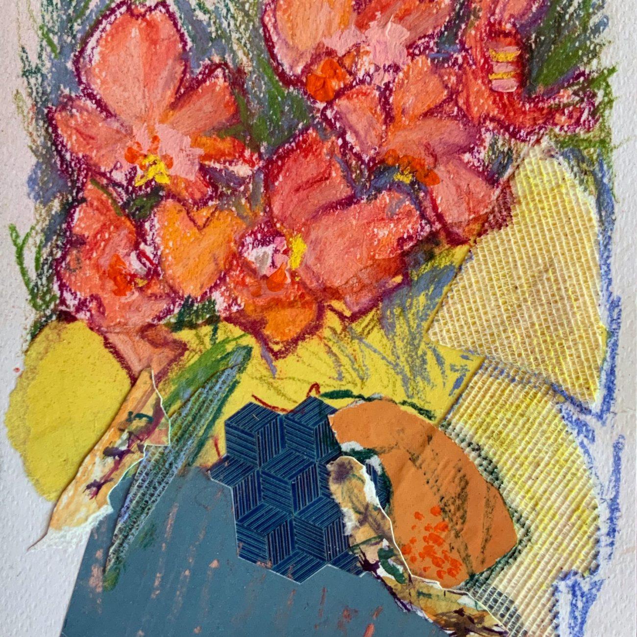 PEMBE KOLAJ 6 Teknik: Kağıt Üzeri Toz Pastel ve Kolaj Ölçü:17x24 cm. (29x36 cm. çerçeveli) Fiyat : 885 TL
