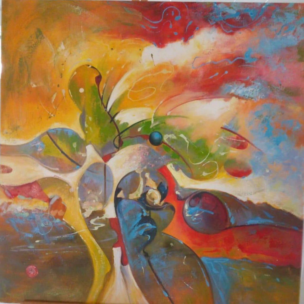 Yıldırım Onur Erdiren - Eser Adı : Soyut Kompozisyon Teknik: Yağlı Boya Ölçü: 80 x 80 cm Fiyat : 1.770 TL