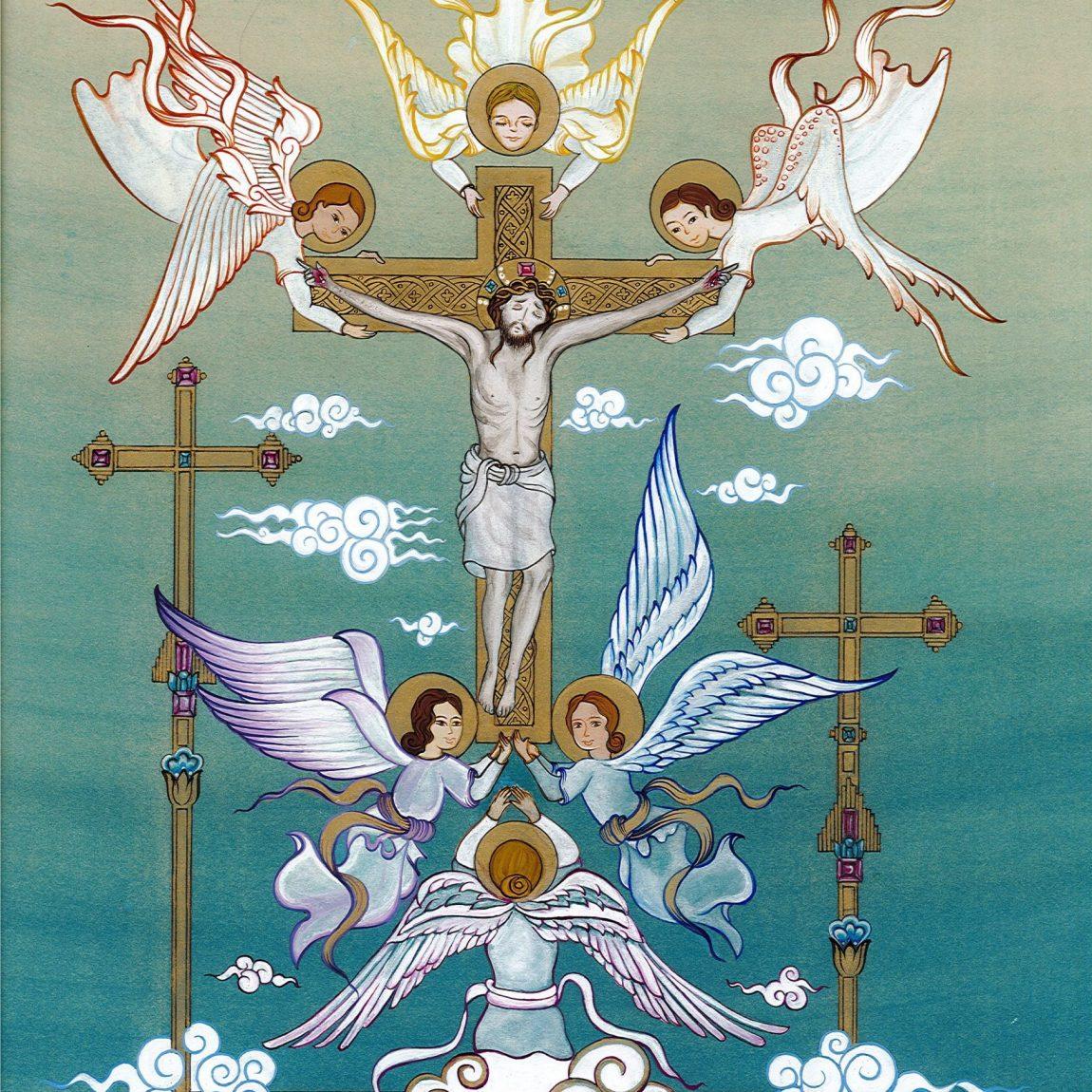 Seçil Sever Demir - Eser Adı : Hz İsa'nın Gökyüzüne Yükselişi Teknik : Özgün Minyatür Tasarım Ölçü: 28 x 37 cm Fiyat : 6.140 TL