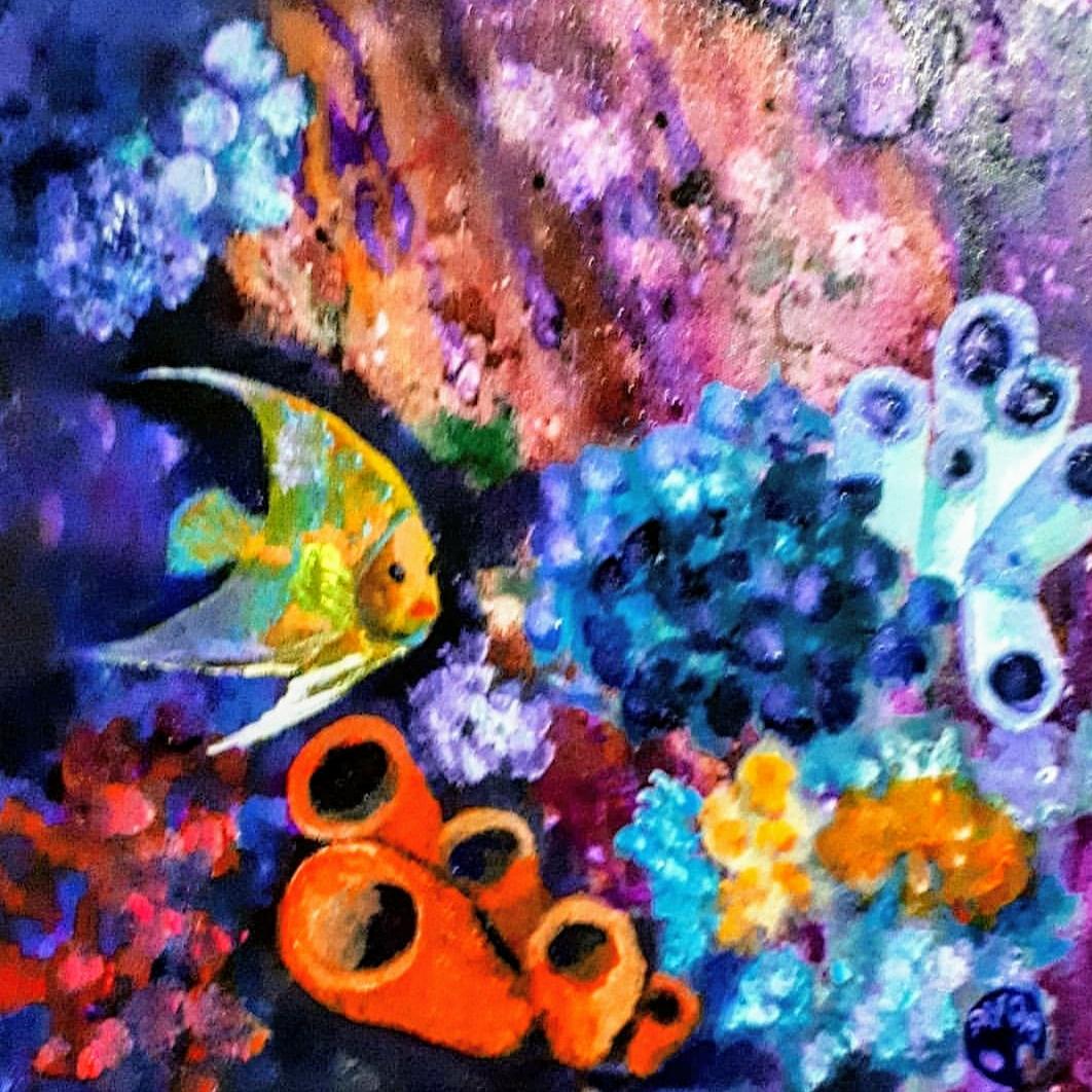 DERİNLİKLER - Tuval Üzeri Yağlı Boya Ölçü: 30 x 30 cm