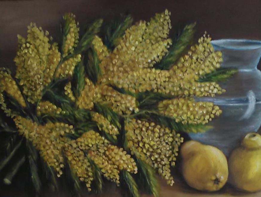 Mimoza-Teknik: Tuval Üzeri yağlı Boya Ölçü: 70 x 50 cm Fiyat : 4.750 TL