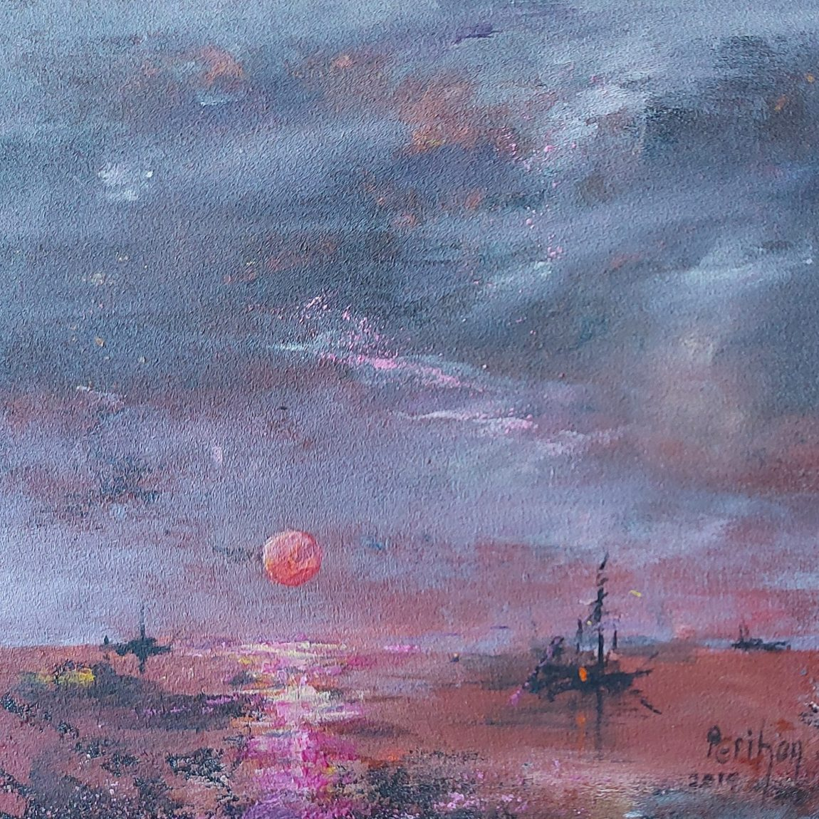 Sanatçı : Perihan Ata - Teknik: K.Ü. Akrilik- Ölçü:23 x 25 cm -  Fiyat : 1.475 TL