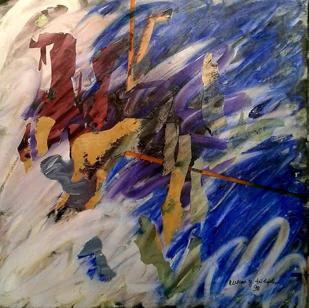 Sanatçı : Nurcan Türkoğlu - Eser Adı: Soyut Duyumsamalar  - Teknik: T.Ü. Akrilik - Ölçü: 90 x 90 cm -  Fiyat : 5.900 TL