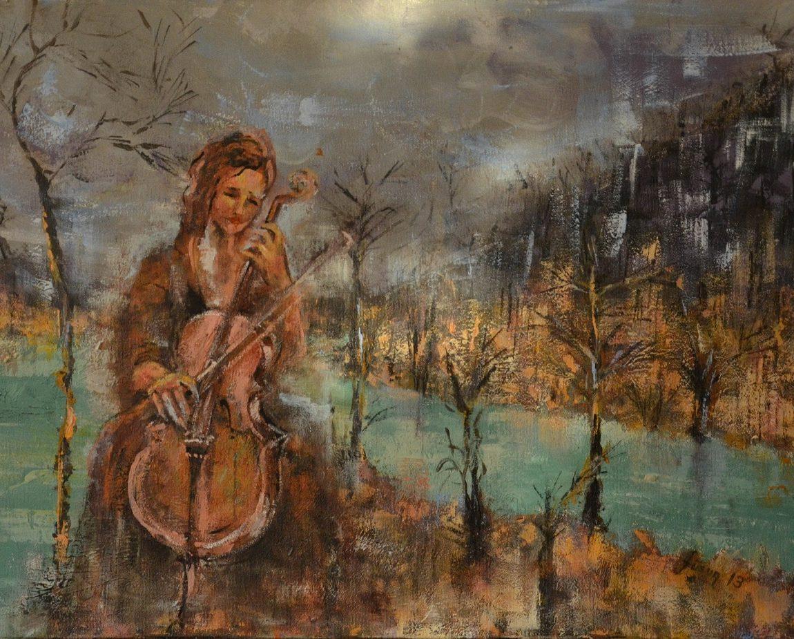 Sanatçı : Füsun Uzunoğlu -  Eser Adı: Doğa'nın Çığlığı  - Teknik: T.Ü. Akrilik  - Ölçü: 50 x 70 cm-  Fiyat : 5.900  TL