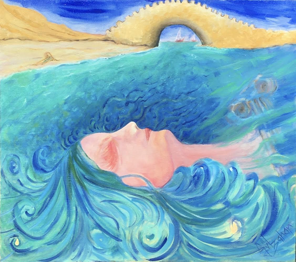 Sanatçı : Gülbahar Erdem  -  Eser Adı: Hypatia   - Teknik: T.Ü. Yağlı Boya  - Ölçü: 52,5 x 69 cm-  Fiyat : 5.900  TL