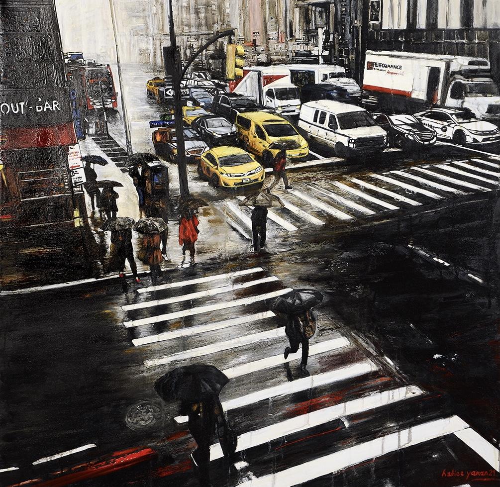 Sanatçı : Hatice Yaman  -  Eser Adı: İnsanlar / People  - Teknik: T.Ü.Yağlı Boya - Ölçü: 90 x 90 cm