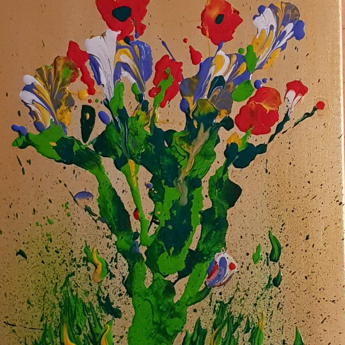 Sanatçı : Nerkiz Akçura  - Eser Adı: Buket - Teknik: T.Ü. Akrilik - Ölçü: 50 x 35 cm - Fiyat : 2.950 TL