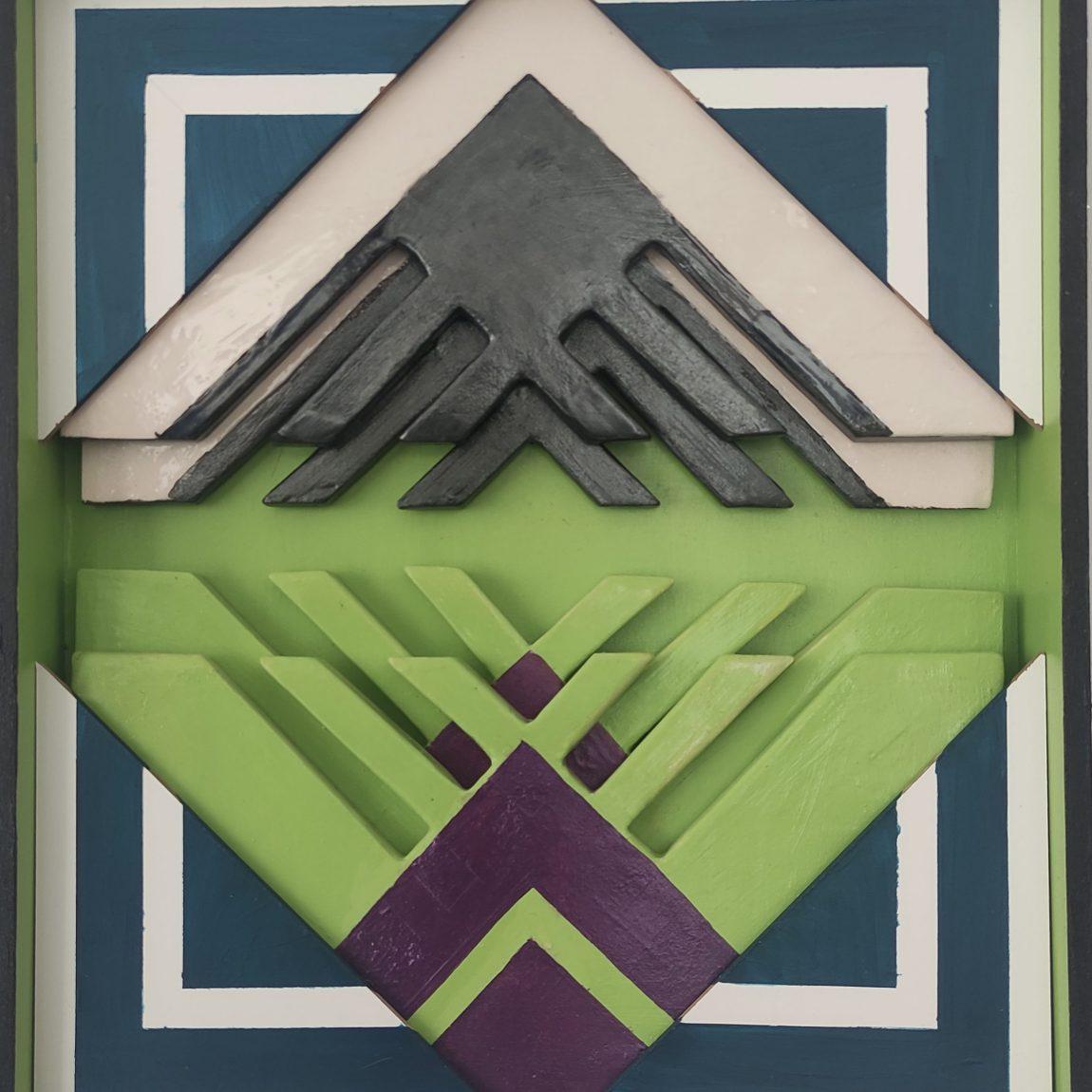 Sanatçı : Ayşen Dinç- - Eser Adı: Ritim -  Teknik: Plaka - Ölçü: 40 x 40 cm  - Fiyat : 590 TL