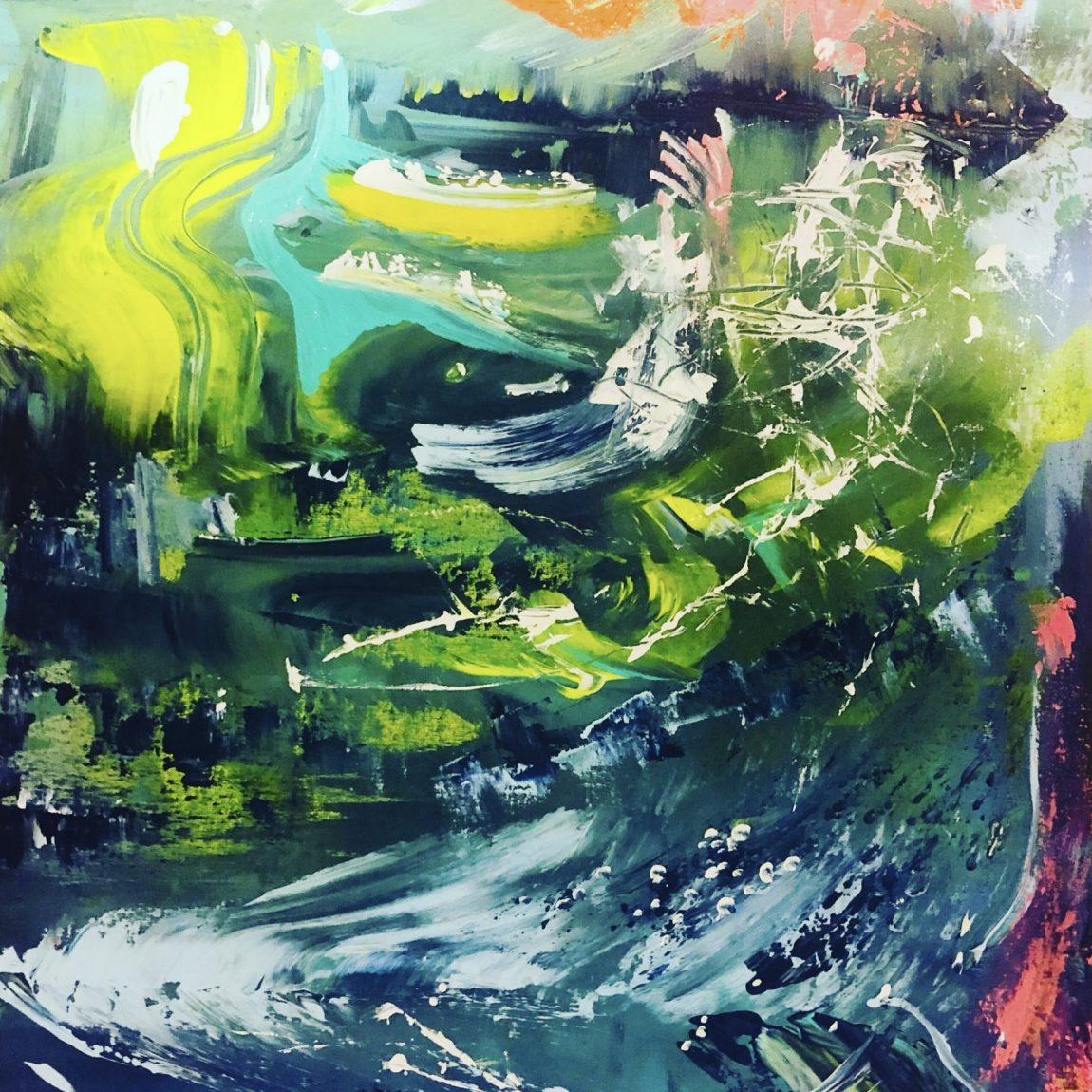 Sanatçı : Belma Bozkurt- - Eser Adı: Under water and sky-  Teknik:  - Ölçü: 50 x 70 cm  - Fiyat : 1.950 TL