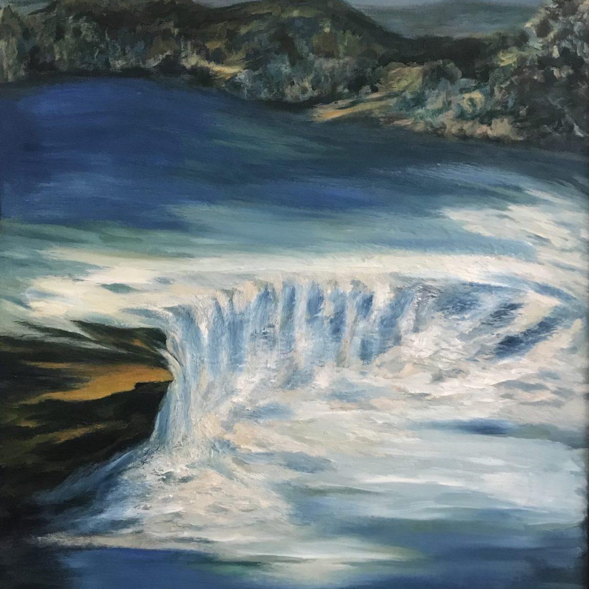 Zuhal Kıvılcım - Eser Adı : Manavgat- Teknik: Tuval Üzeri Yağlı Boya - Ölçü: 70 x 100 cm - Fiyat : 7.100 TL
