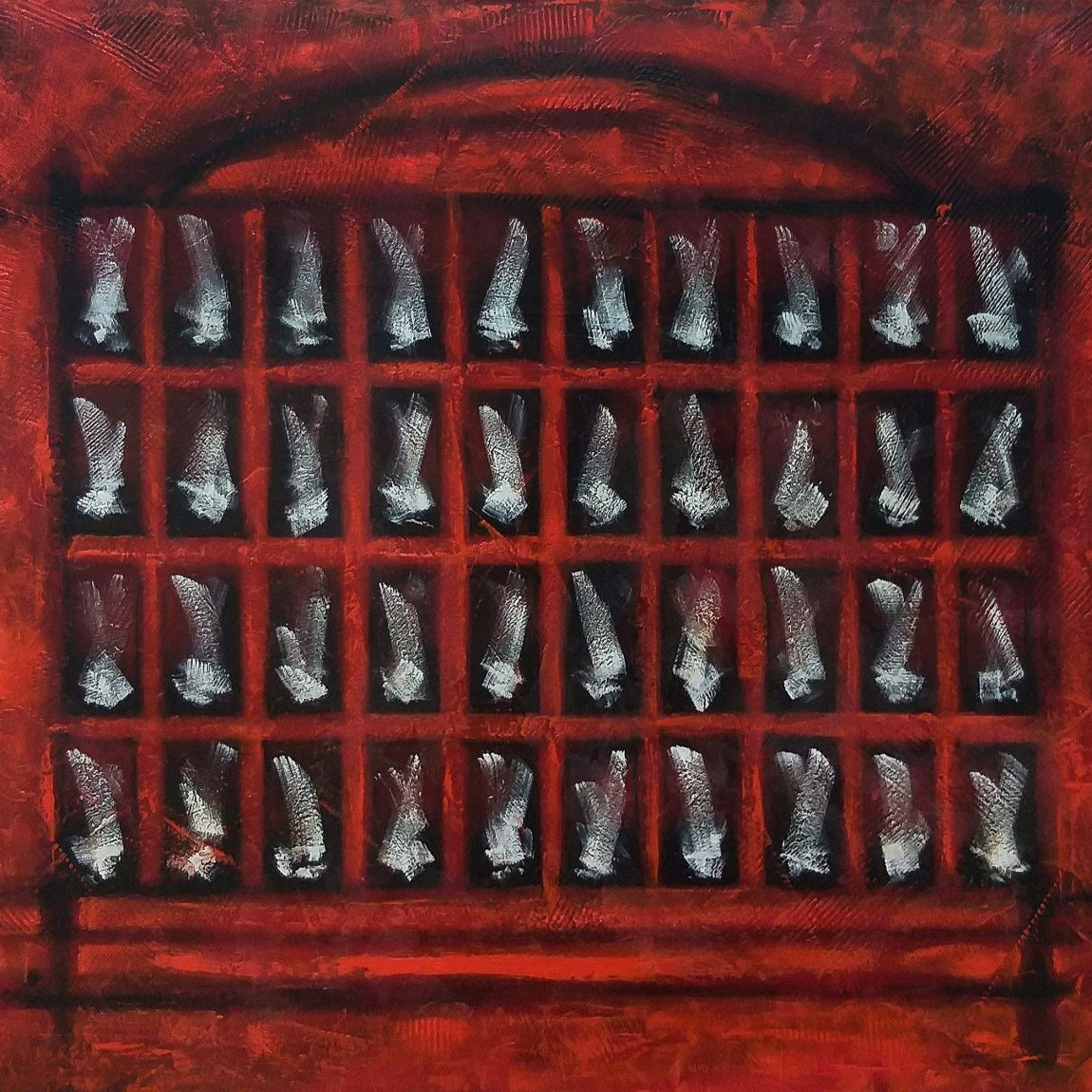 Burak BOYRAZ-Demans No:1  Teknik:Tuval Üzeri Karışık Teknik(Akrilik ve Yağlı Boya)  Ölçü:100x120 cm
