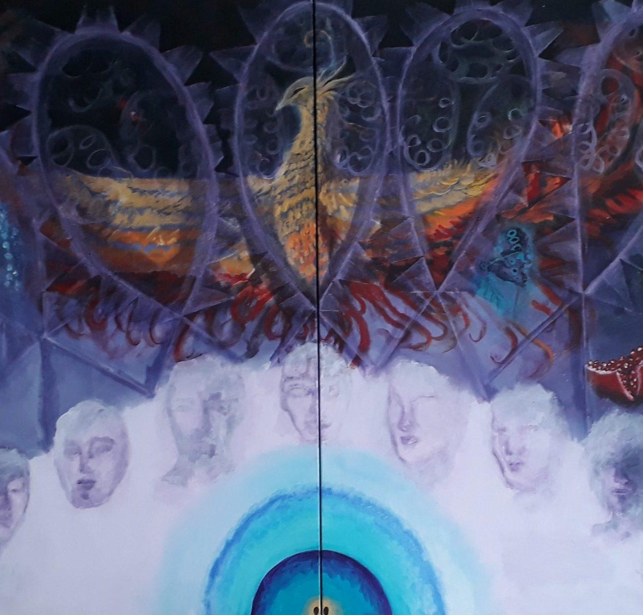 LA Vibrasyonu   Teknik : Tuval Üzeri Yağlı Boya Ölçü: 200x100 cm  Fiya: 9000 TL