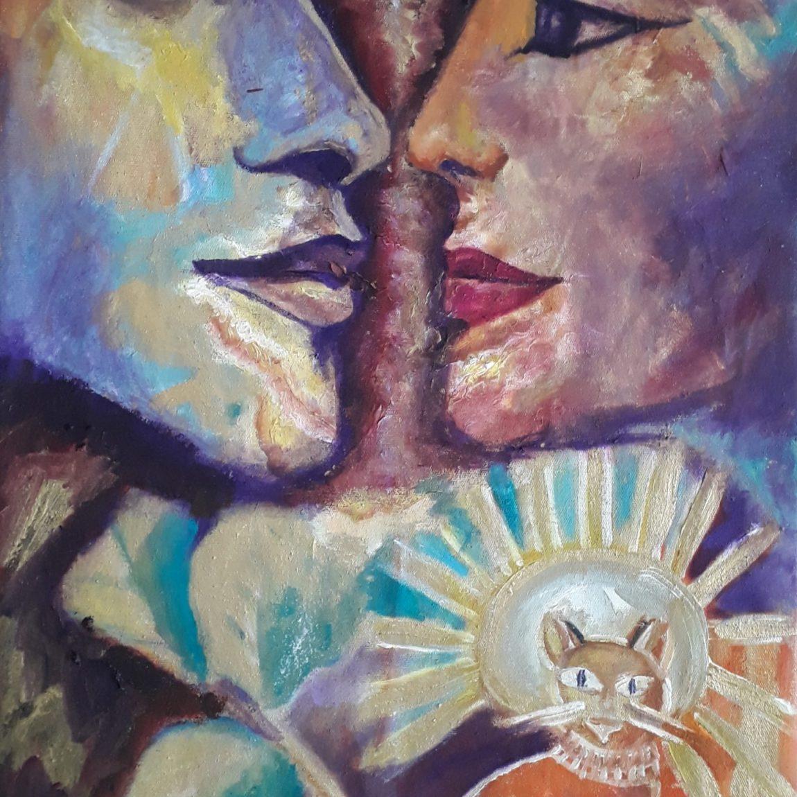Mısırda Gizemli Aşk Teknik:Tuval Üzeri Yağlı Boya Ölçü:64x37 cm  Fiyat : 4000 TL