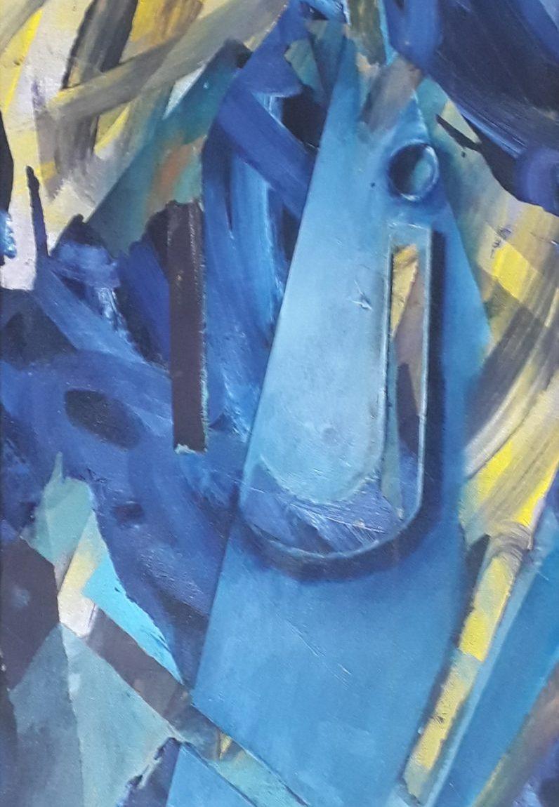 Kozmoloji Serisinden Teknik : Tuval Üzeri Yağlı Boya Ölçü:93x30 cm  Fiyat : 2000 TL