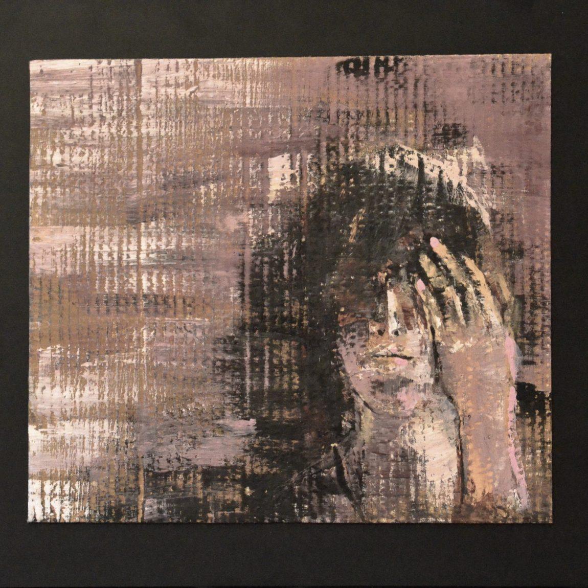 Mor Kadın  Teknik:Mukavva Üzeri Karışık Teknik Ölçü: 41 x 37 cm