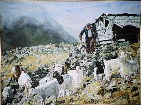Köroğlu Dağlarında Çoban Teknik:Tuval Üzeri Yağlı Boya Ölçü:60x80 cm Fiyat:3.000 TL