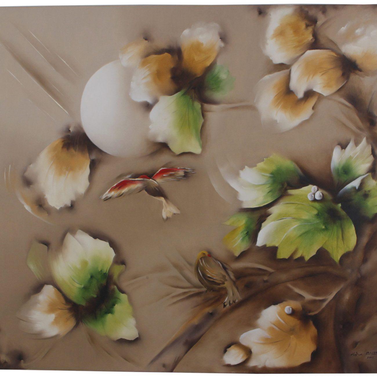 Teknik:: Tuval Üzeri Yağlı Boya  Ölçü: 100 x 110 cm  Fiyat : 1200 TL