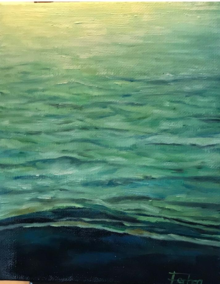Sakin Sahil  Teknik:Yağlı Boya  Ölçü: 20 x 25 cm
