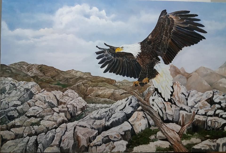 Hamide ÇOBAN -Teknik:Tuval Üzeri Yağlı Boya Ölçü:60x90 cm