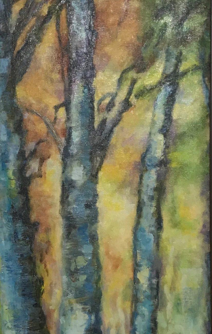 Kavaklar 1  Teknik: Yağlı Boya Ölçü : 30 x 90 cm
