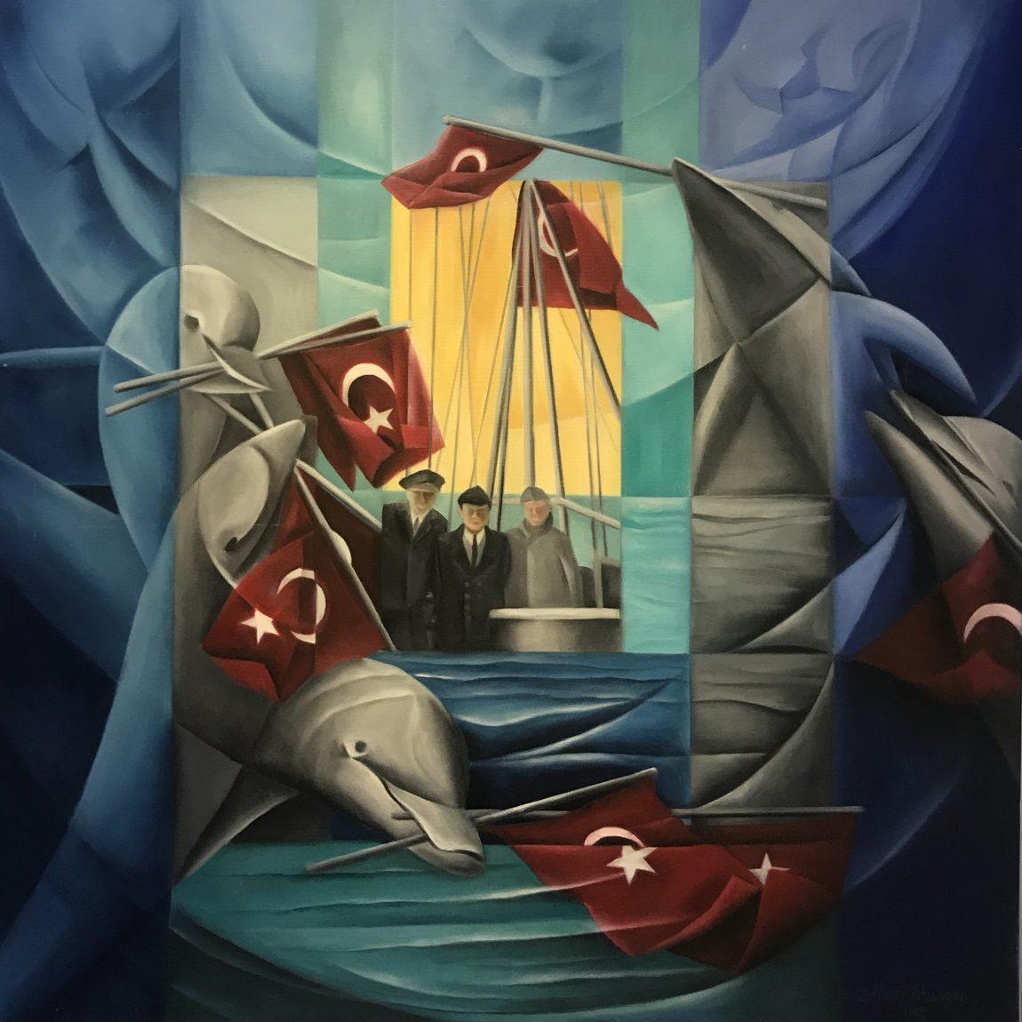 Zeynep Nuray Atasagun Teknik:Tuval Üzeri Yağlı Boya Ölçü:110x110 cm  Fiyat:10.030