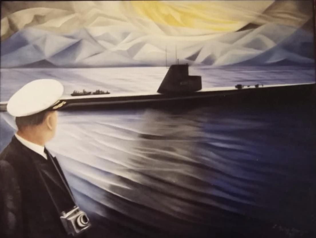 Zeynep Nuray Atasagun  Eser Adı: Komutan Teknik: Tuval Üzeri Yağlı Boya Ölçü: 116 x 189 cm  Fiyat : 9.440  TL