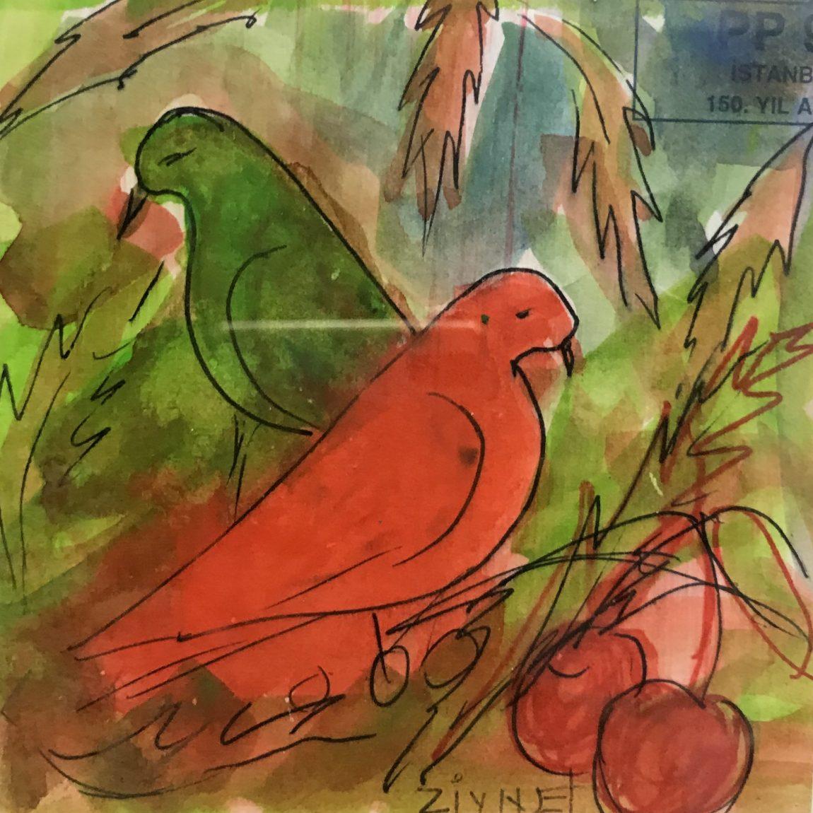 Teknik: Kağıt Üzeri Sulu Boya Ölçü : 20 x 16 cm  Fiyat : 530 TL