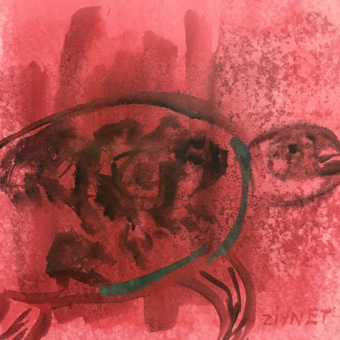 Teknik: Kağıt Üzeri Sulu Boya Ölçü: 13 x 13 cm  Fiyat : 410 TL