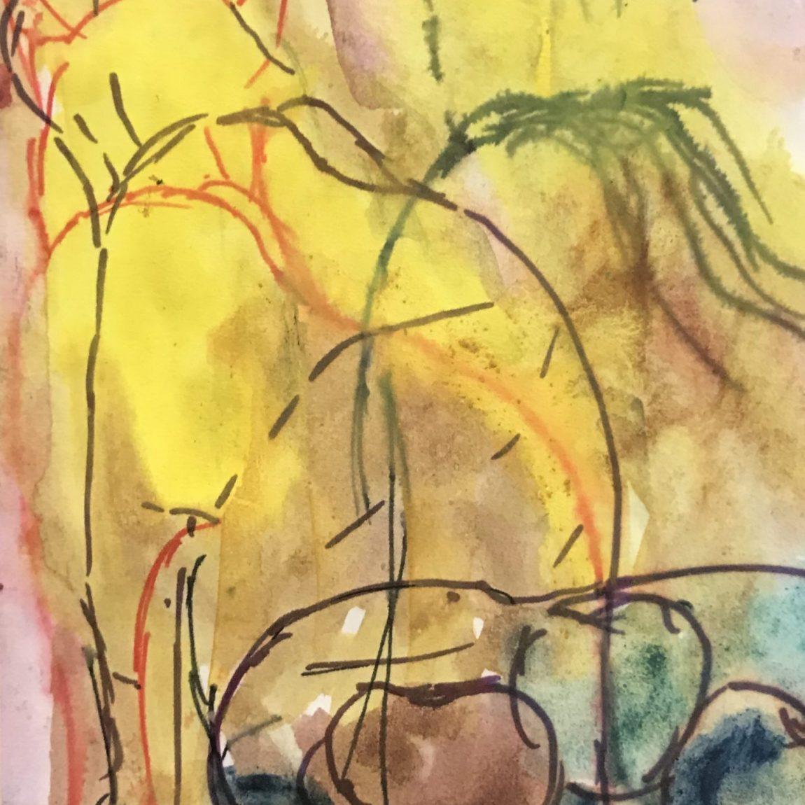 Teknik: Kağıt Üzeri Sulu Boya Ölçü : 10 x 10,5 cm  Fiyat : 355 TL