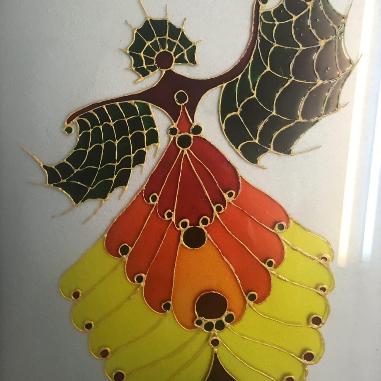 A. Rıza Özkale Teknik : Boyama Vitray Ölçü :19 x 27 cm  Fiyat 472 TL