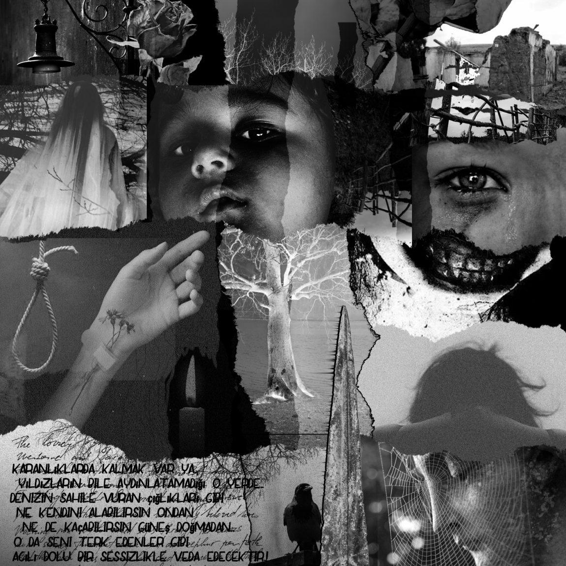 Erman Yalçın- Eser Adı : İntiharın Görsel Biyografisi-Teknik: Kolaj - Ölçü: 50 x 50 cm - Fiyat : 1.180 TL