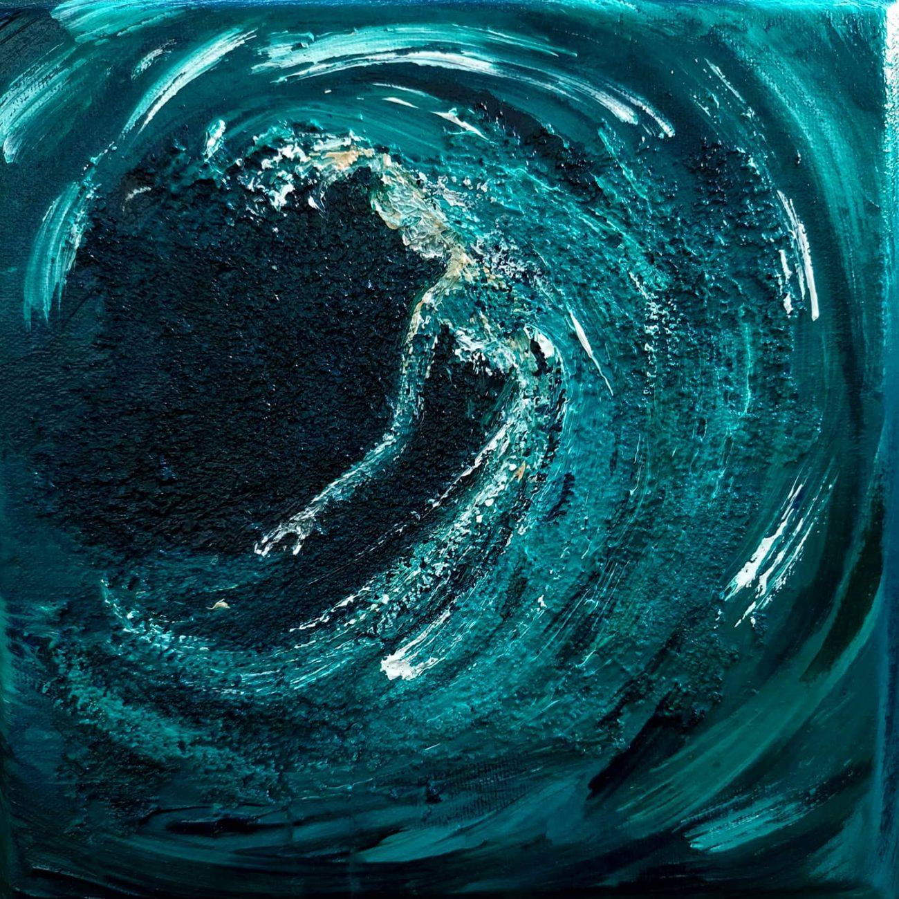 Dalgalar - Teknik: Tuval üzeri akrilik Ölçü : 25 x 25 cm Fiyat : 300 TL