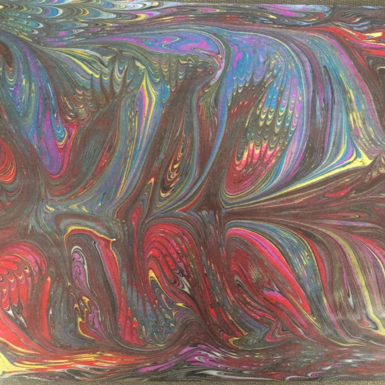 Colours allow imagination - Teknik: Ebru Tekniği Ölçü: 35 x 50 cm Fiyat : 1.770 TL