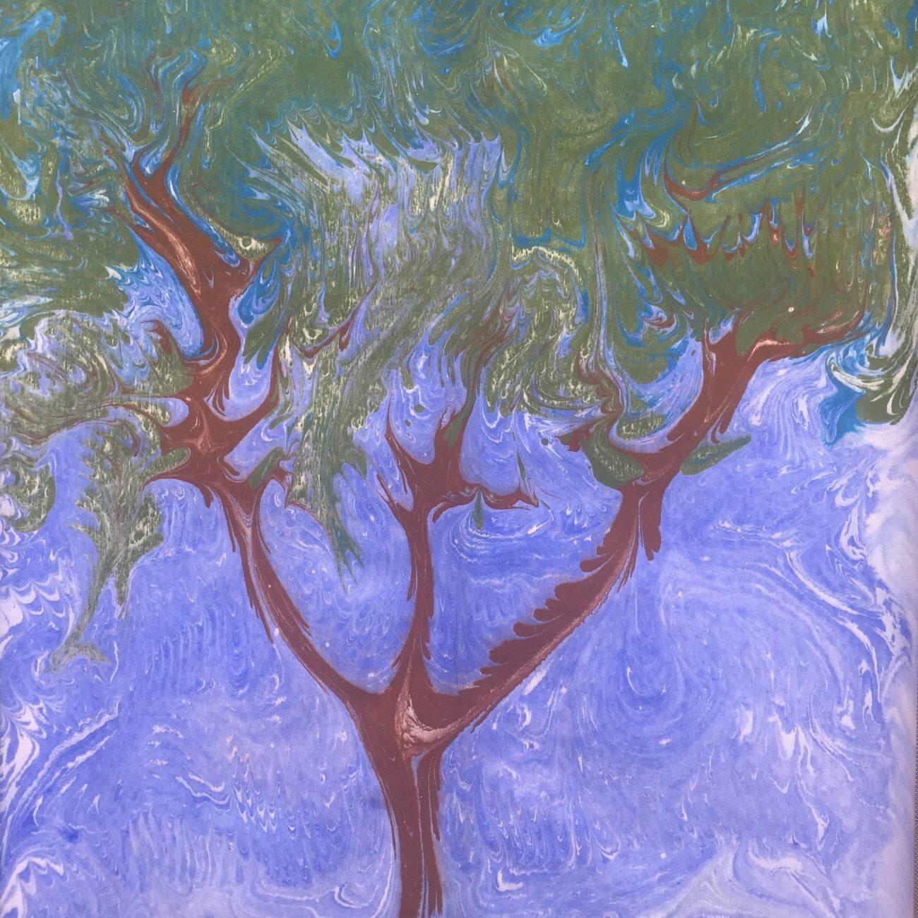 Tree- Teknik: Ebru Tekniği Ölçü: 35 x 50 cm Fiyat : 1.770 TL